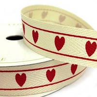 Лента Hearts 1м/15 мм