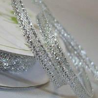 Лента Metallic Ribbon - Silver 1м/3мм