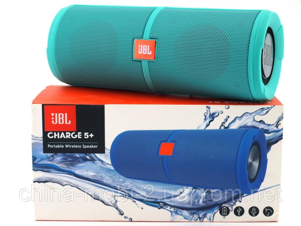 JBL Charge 5+ 6W копия, портативная колонка с Bluetooth FM MP3, Teal зеленая  мята