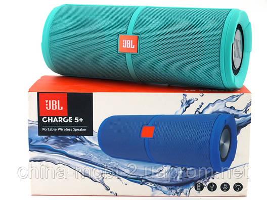 JBL Charge 5+ 6W копия, портативная колонка с Bluetooth FM MP3, Teal зеленая  мята , фото 2