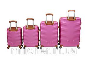 Чемодан Bonro Next набор 4 шт. розовый, фото 2