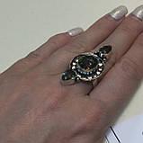 Мистик топаз кольцо с мистическим топазом в серебре. Размер 17,5-18 Индия!, фото 4
