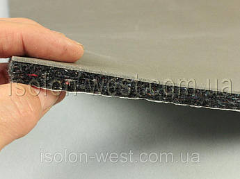Шумоизоляция для авто войлочная влагостойкая ИВ-14К, самоклейка, толщина 14 мм, лист 78×50 см 156х100см, 12мм