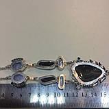Ботсванский агат жемчуг сапфирин ожерелье с агатом сапфирином жемчугом барочный жемчуг барокко Индия, фото 6