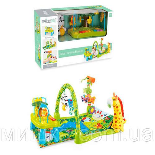"""Развивающий коврик для младенца 850*440 мм с игровым столиком """"Тропический лес"""" JDL555-21"""