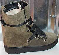 Ботинки замшевые женские зимние от производителя модель СА243-2, фото 1