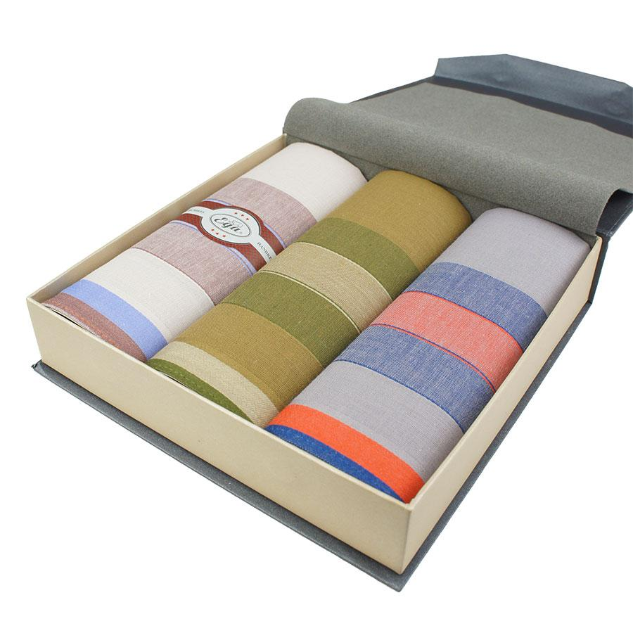 Набор мужских носовых платков в подарочной упаковке EGA 3 шт CH-240/3 С