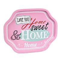 "Стильный поднос ""Home sweet"" (33х27х2 см.)"