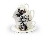 Чашка з блюдцем Wilmax Аліса джамбо, 250 мл, фото 2