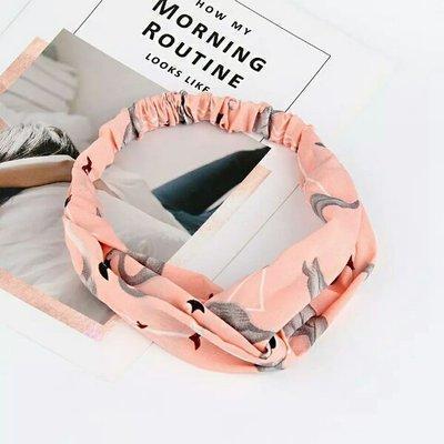 Повязка-лента на голову Фламинго Розовая