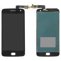 Дисплей (екран) для Motorola XT1687 Moto G5 Plus з сенсором (тачскріном) чорний Оригінал