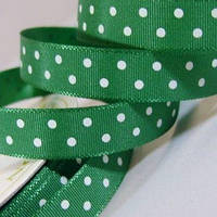 Лента Satin With Dots - Bottle Green 1м/10мм