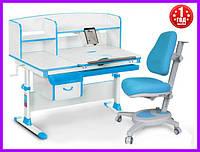 Комплект Evo-kids Evo-50 BL стол+ящик+надстройка+кресло Onyx Y-110 KBL, фото 1