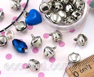 (Цена за 25шт)Бубенчики металлические бубенцы  10х8мм  Цвет -  СЕРЕБРО (сп7нг-1093)