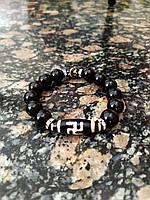 Мужской браслет - амулет с тибетской бусиной Дзи из оникса