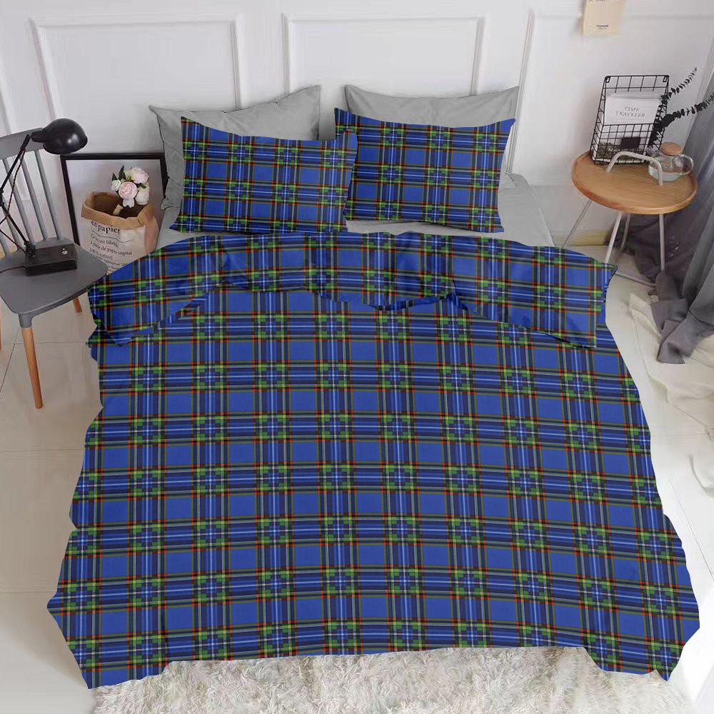 Комплект евро взрослого постельного белья SCOTTISH BLUE GREY