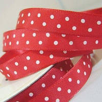 Лента Satin With Dots - Cranberry 1м/10мм