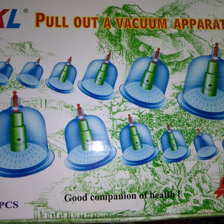 Набор вакуумных банок 12 шт для массажа с насосом