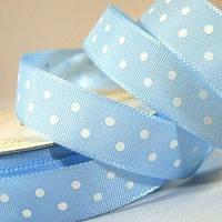 Лента Satin With Dots - Light Blue 1м/10мм