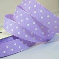 Лента Satin With Dots - Lilac 1м/10мм