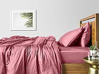 Комплект евро взрослого постельного белья сатин PUDRA