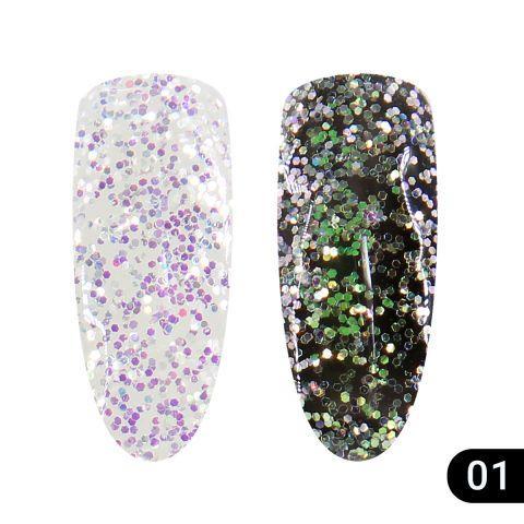 Glitter Gel №1 Хамелеон Global Fashion 5г