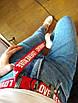 Длинный пояс женский красный тканевый ремень с надписью lovememore ретро винтажный в стиле 90-х, фото 6