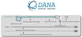Билиарные катетеры с рентгеноконтрастной полосой и фиксирующей нитью, Размер 8