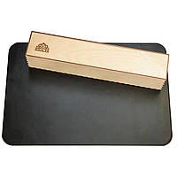 Настольное покрытие VDAR из натуральной кожи вподарочной упаковке 380x580 мм Черное (V201)