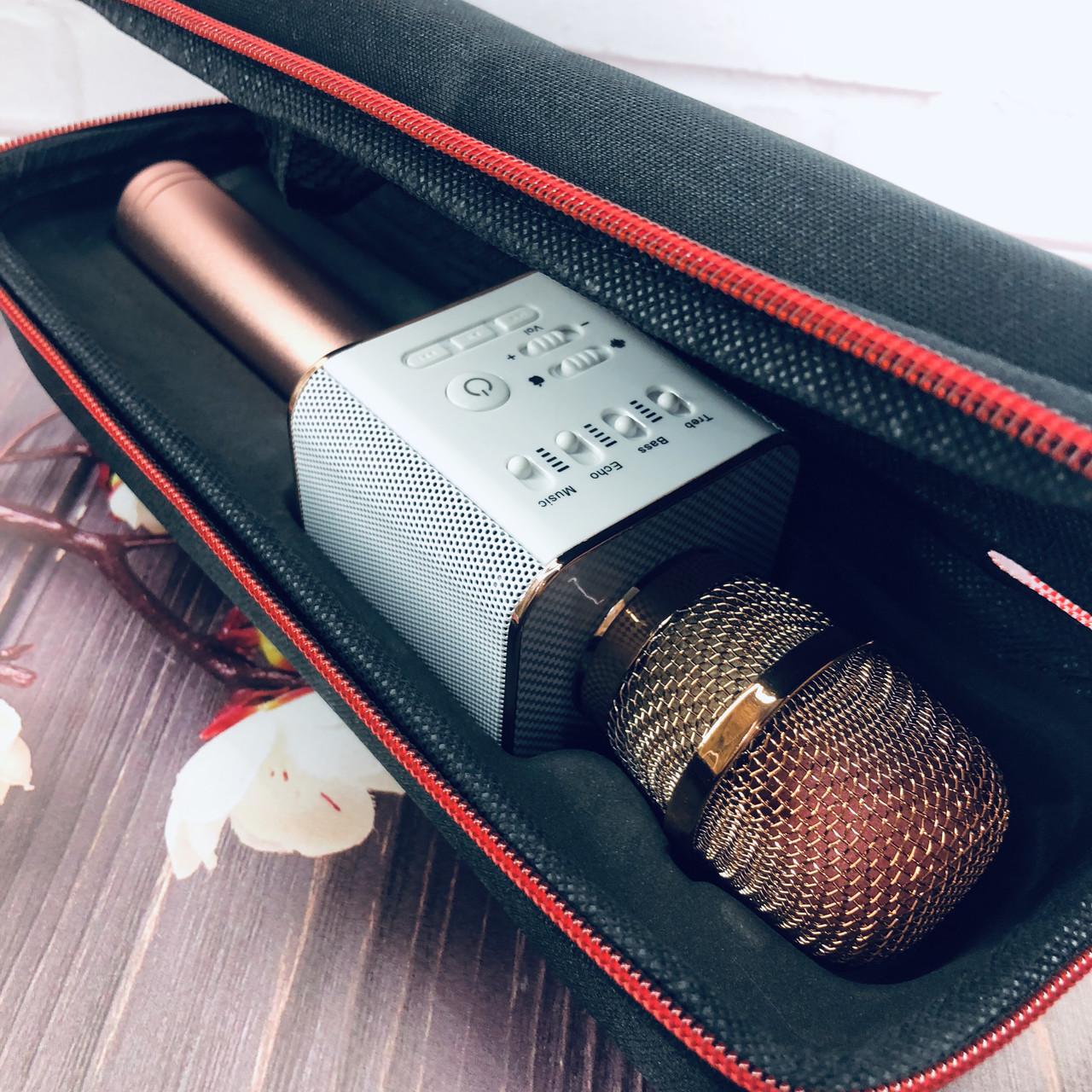 Беспроводной микрофон для караоке Q9 Розовый