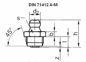 Купить пресс-масленку DIN 71412 А в Украине