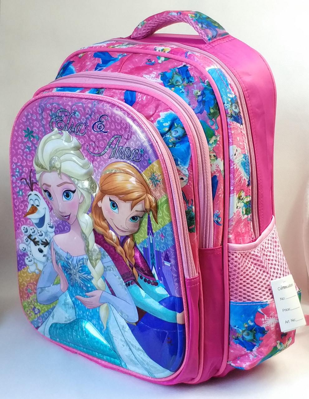 Школьный рюкзак розовый для девочки