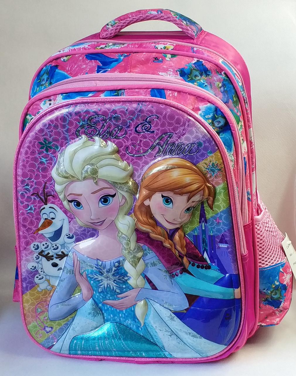Школьный рюкзак для девочек Холодное сердце розовый
