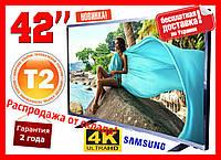 "Телевизор Samsung ""42""дюйма изогнутый  Супер Качество ! Т2 тюнер,спутниковое, TV , 4К UltraHD 4К DVB-T2/DVB-С"
