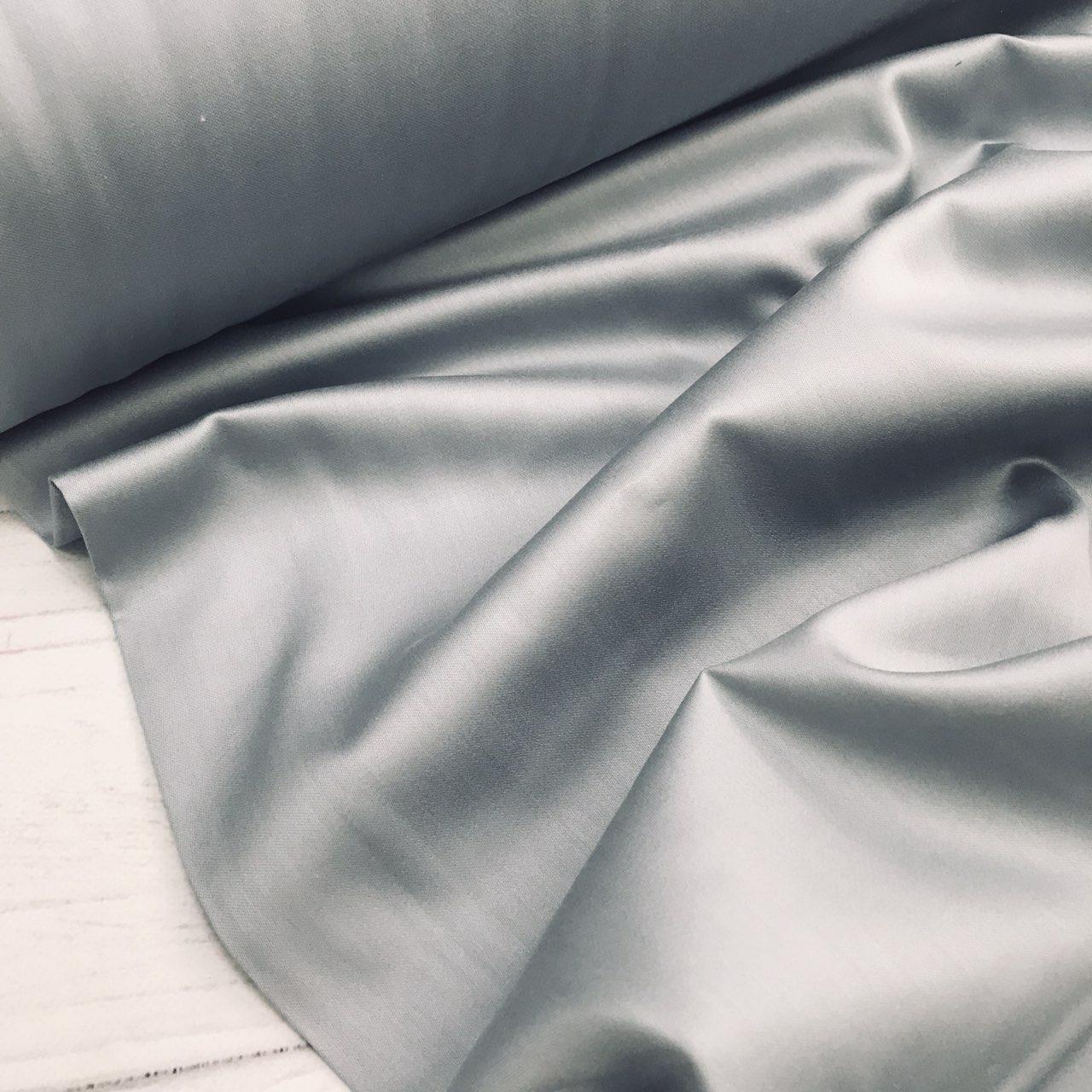 Сатин цвет серый  (ТУРЦИЯ шир. 2,4 м) № 66
