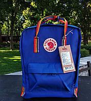 Городской рюкзак Канкен Fjallraven Kanken Rainbow blue. Живое фото. Premium (Реплика ААА+)
