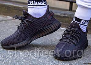 Мужские кроссовки Adidas YEEZY BOOST 350 V2 Black Reflective