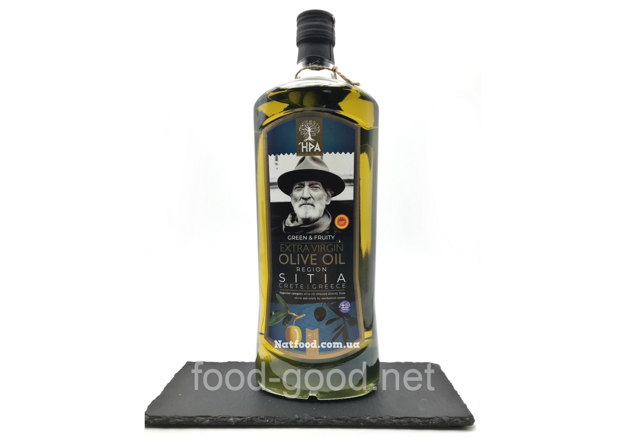 Оливковое масло HPA extra virgin olive oil region Sitia Греция, 1л
