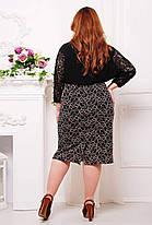 Классическая женская юбка из гипюра с контрастым рисунком с 56 по 62 размер, фото 2