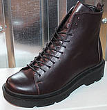 Ботинки кожаные женские демисезонные от производителя модель СА240-1, фото 2