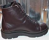Ботинки кожаные женские демисезонные от производителя модель СА240-1, фото 3