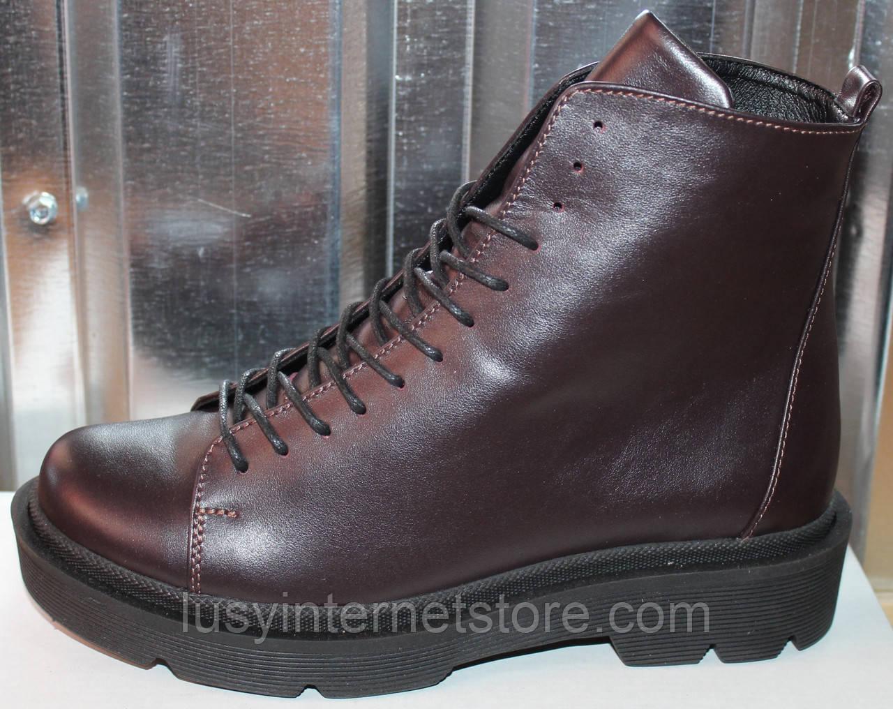 Ботинки кожаные женские демисезонные от производителя модель СА240-1