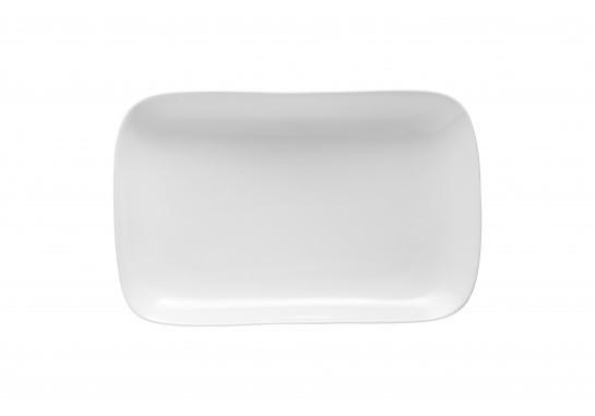 """Тарелка овальная без борта 8"""" (20.3см) Alt Porcelain CaBaRe Белая (F0034-9)"""