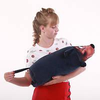 Антистрессовая игрушка-валик Такса велюр антистресс, полистерольные шарики, размер 54*19 см