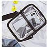Спортивная черная сумочка прозрачная с мешочком через плечо опт