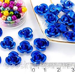 (35-40шт) Розочки металл Ø11мм, серединки Цвет - Синий (сп7нг-0661)