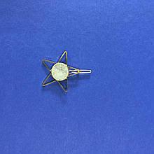 Заколка для волос металлическая золотая в форме Звезды