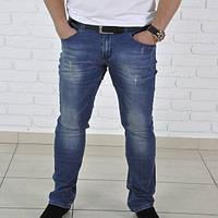 Мужские модные джинсы Dolce Gabbana, синего цвета. Ремень в комплекте.