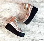 Женские туфли цвета серебро на платформе, натуральная кожа 37 ПОСЛЕДНИЙ РАЗМЕР, фото 3
