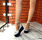 Женские туфли цвета серебро на платформе, натуральная кожа 37 ПОСЛЕДНИЙ РАЗМЕР, фото 4